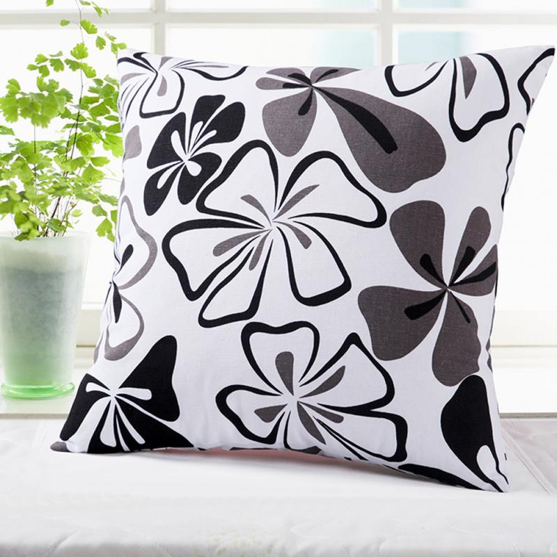 Canvas Pillow Case Home Textile Supplies Pillowcase Square Household Products 2 Colors -OF(China (Mainland))