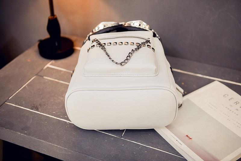 2016 cool sunglasses fashion women backpacks Korean rivet mini school bag backpack for youth lady College girls rucksack (39)