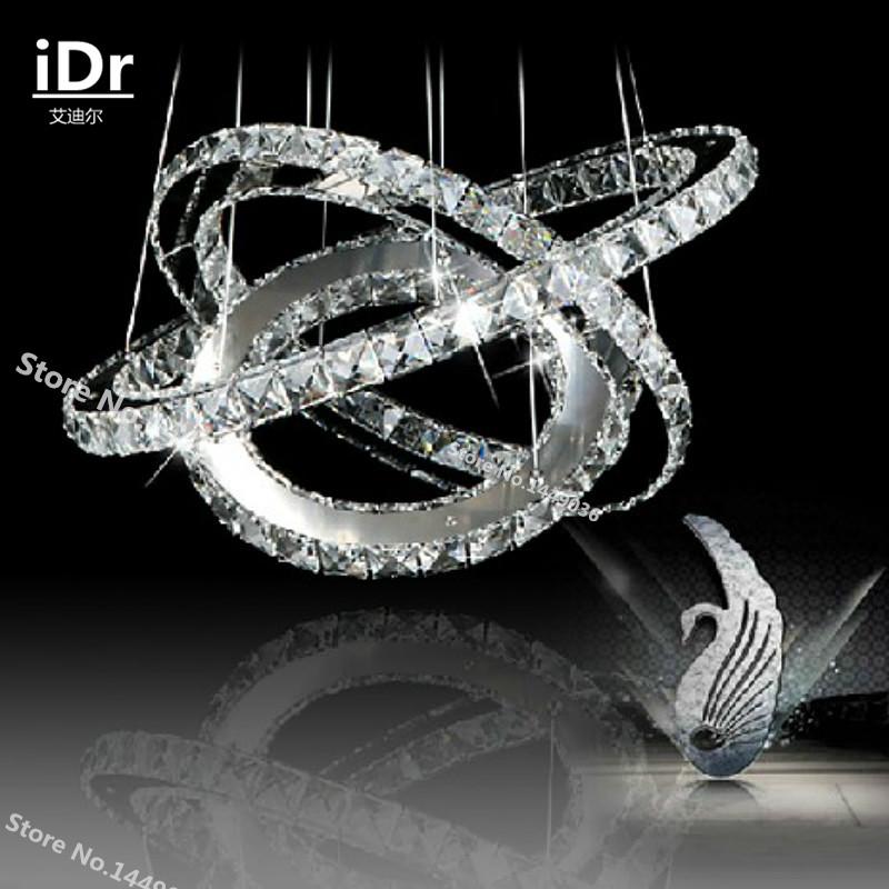3 Rings Crystal LED Chandelier Light Fixture Crystal Light