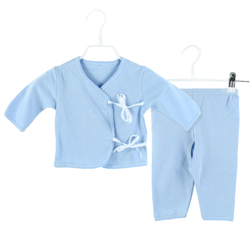 2 Piece Set Baby Long Sleeve Tie Romper Cotton Soild Printed Boy Girl Clothes Newborn Next Jumpsuits Bebes Rompers(China (Mainland))