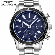 Buy 2017 Mens Watches Top Brand Luxury GUANQIN Business Stainless Steel Quartz Watch Men Sport Waterproof Clock relogio masculino for $26.99 in AliExpress store
