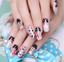 nail art decal DIY nail salon new fashion design  manicure Five nail stickers free shipping
