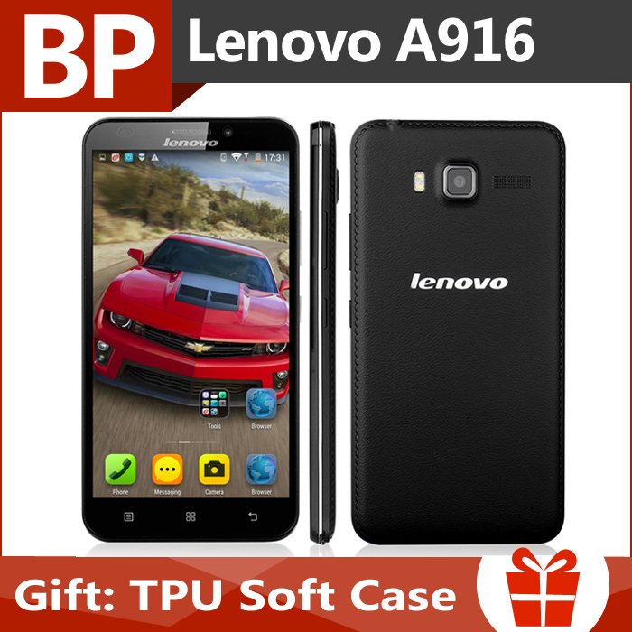 In Stock Original Lenovo A916 5.5 Inch HD IPS MTK6592 Octa Core Android 4.4 4G LTE Mobile Cell Phone 1GB RAM 8GB ROM 13MP CAM(China (Mainland))