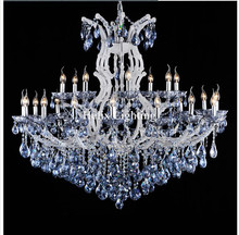 Free Shipping Blue White Chandeliers Crystal Clear Vintage chrystal chandelier Hotel Lighting Pendelleuchte lamp for Home Lights(China (Mainland))