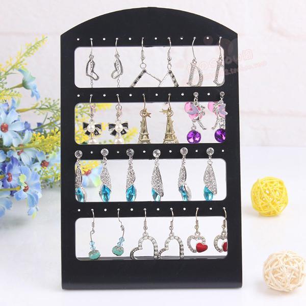 48 Holes Earrings Ear Studs Jewelry Show Black Plastic Rack Display Stand Organizer Holder Christmas New Fashion(China (Mainland))