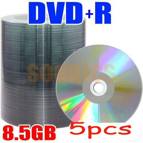 5pcs/lot 8.5GB Blank Discs Recordable Printable DL DVD+R DVDR Disc Disk ,free shipping &drop shipping(China (Mainland))