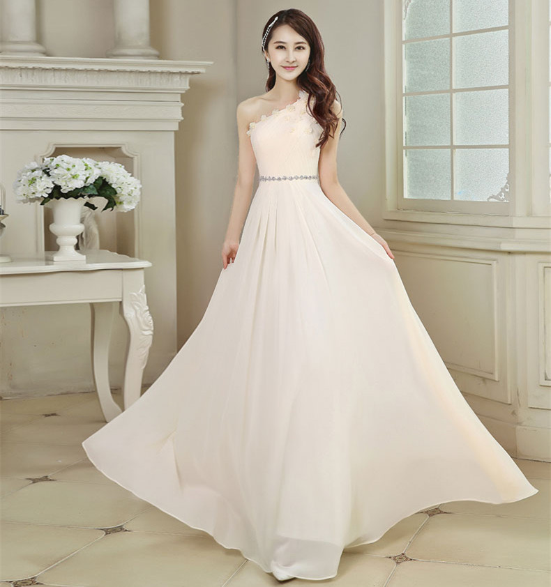 Long party dress bridesmaid dress chiffon 2015 bridesmaid for Cheap wedding dress under 50