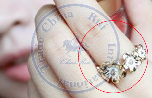 rings finger Fashion popular Jewelry for women Girl's lady pink white flower design Wholesale retail(China (Mainland))