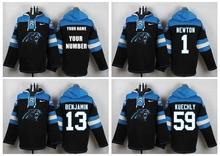 Men Carolina Panthers,Cam Newton,Luke Kuechly,Greg Olsen,Kelvin Benjamin,custom Sweater hoodies Hoody Sweatershirt Pullover(China (Mainland))