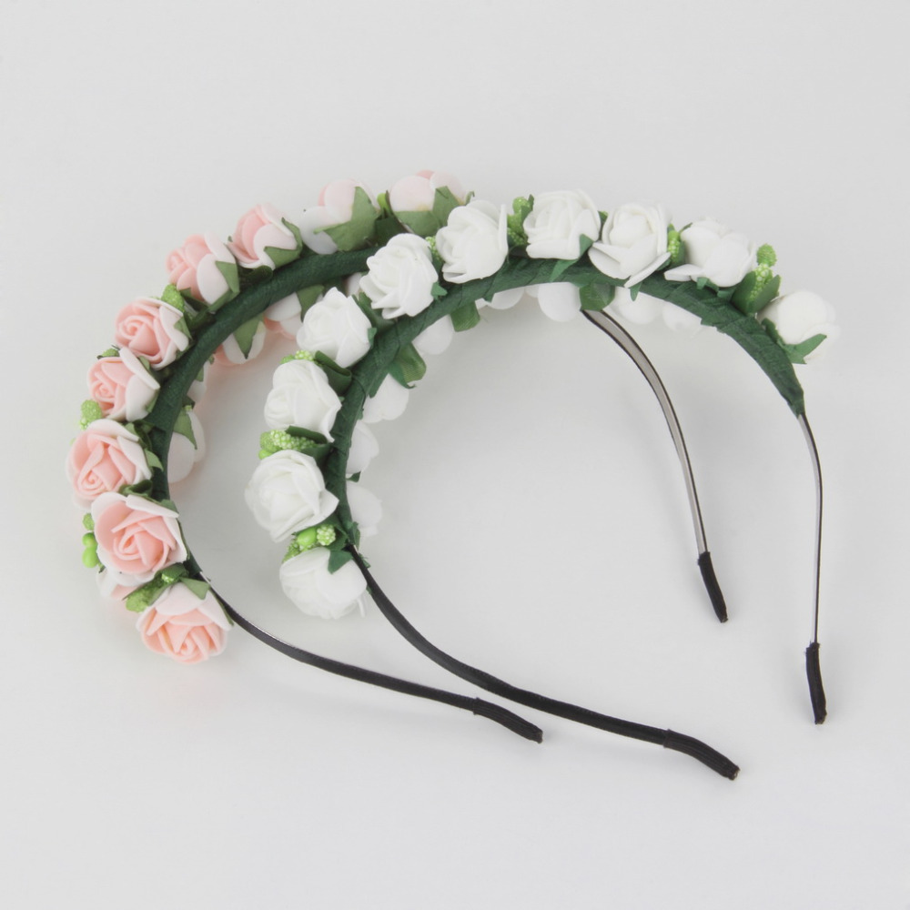 1pcs Women Bridal Flower Headband Wedding Party Floral Garland Hairband Headwear Drop Shipping Wholesale(China (Mainland))