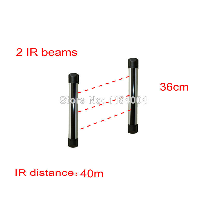 PH-R0240-L 315/433mhz wired Weatherproof outdoor ir beams 2 beams IR distance 40m IR fence infrared sensor Barrier detector<br><br>Aliexpress