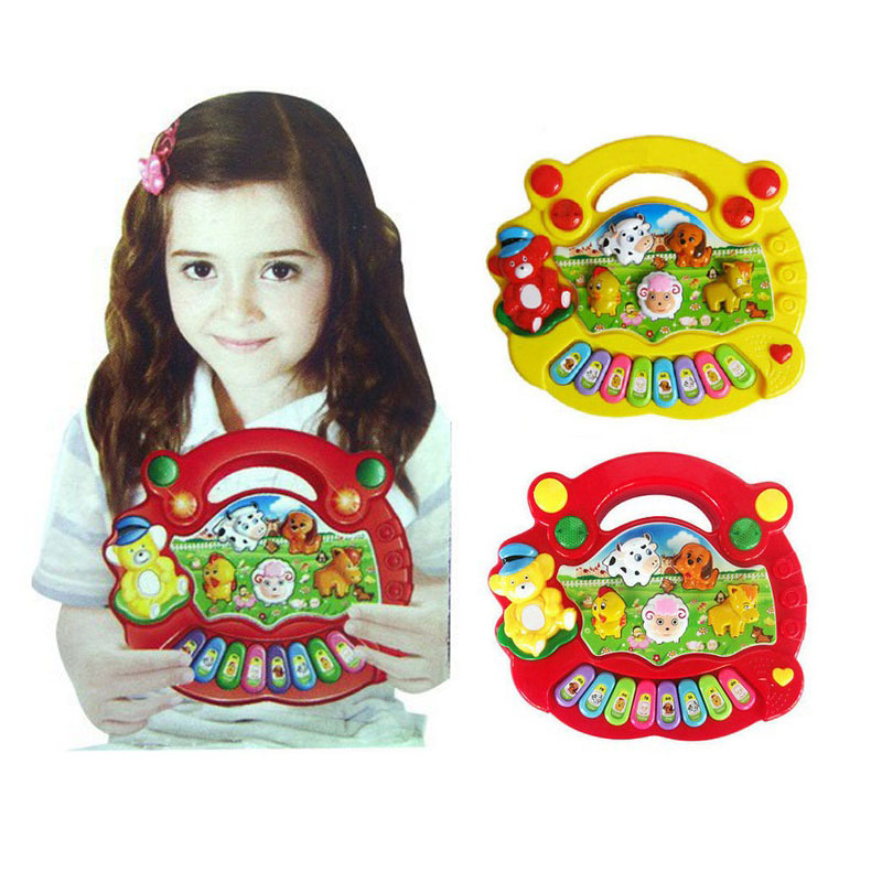 Baby Kid's Electrical Farm Animal Sound Keyboard Piano Music Toy(China (Mainland))