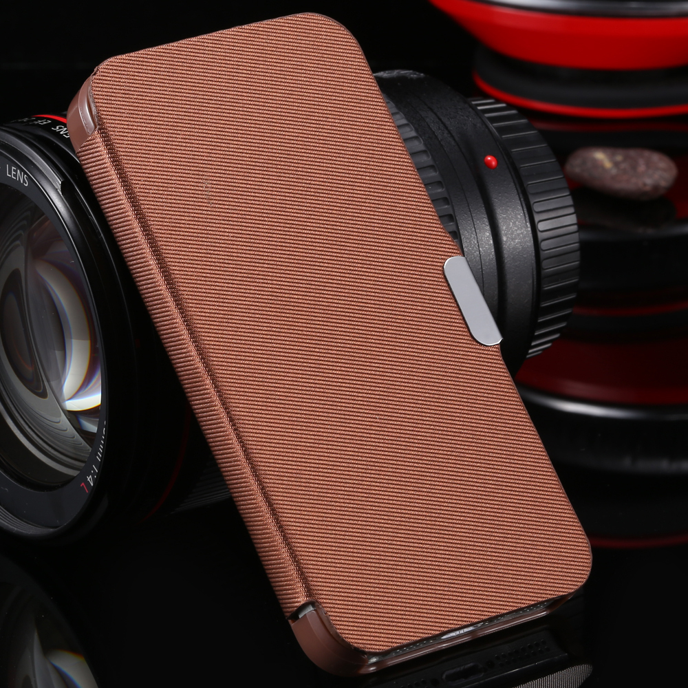 For iPhone 4 4s Fashion Magnetic Buckle Ultra Thin Fabric Leather Case For Apple iPhone 4 4s 4g Cloth Skin Mobile Phone Cover(China (Mainland))