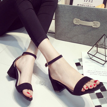 Mushroom 2015 summer brief formal thick heel with the sandals open toe belt women's shoes work shoes