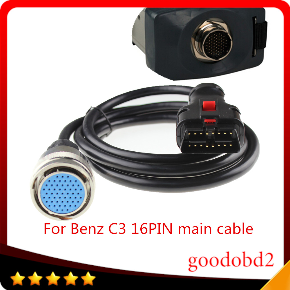 For Benz MB Star C3 OBD2 16PIN Cable OBD II 16 Pin connect mian test Cable car diagnostic scanner tool MB C3 obdii 16-pin cable(China (Mainland))