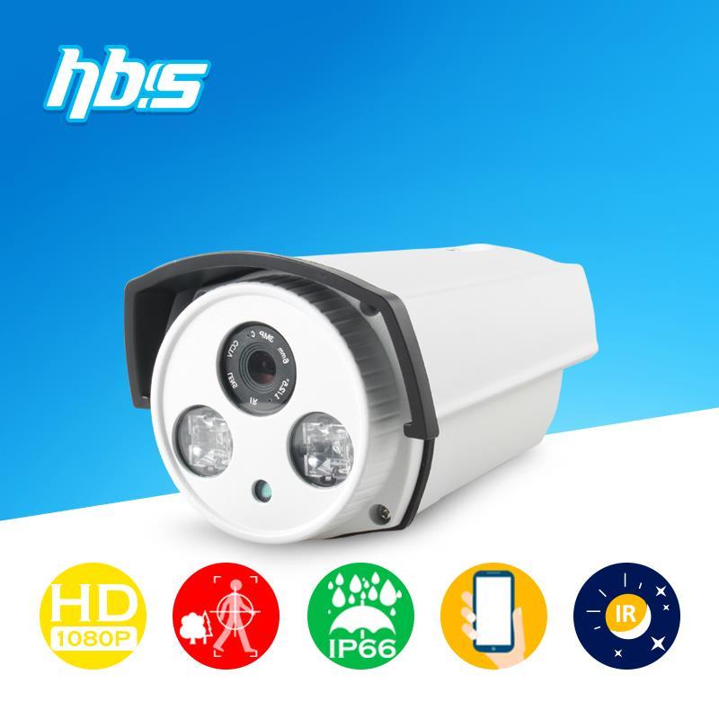Фотография HBSS 2.0MP IP Camera 2 pcs Array Leds IR night vision Onvif motion detection recording remoter control Surveillance Cameras