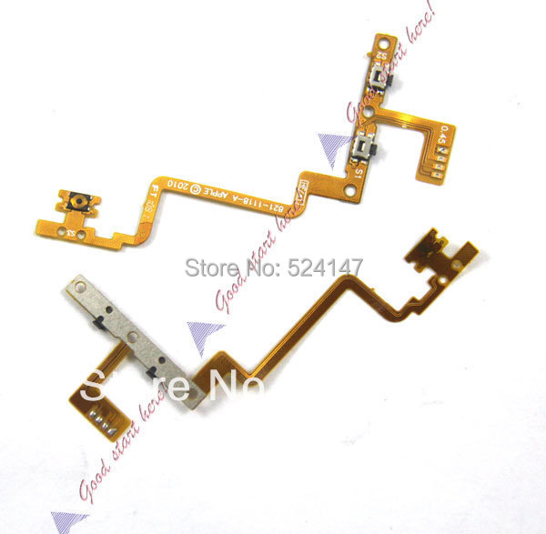 2 pieces/lot Volume Button Power On/Off Flex Cable Repair for iPod Touch 4 AJ1282(China (Mainland))