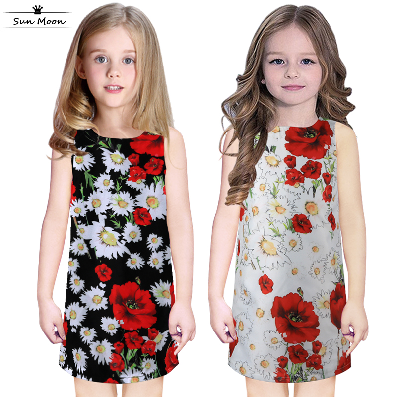 2016 Summer girls dress high quality children clothing brand kids clothes casual baby girl clothes cotton girl party dress 2-10Y(China (Mainland))