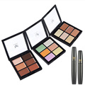 2Pcs 3D Cosmetic Enlarge Eyes Mascara 6 Colors Natural Hightlight Concealer Powder Foundation Long lasting Makeup
