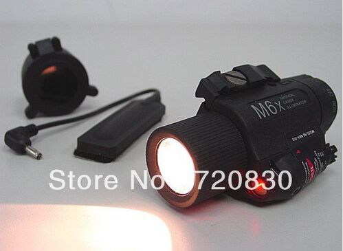 M6X Xenon tactical Flashlight torch & Red Laser w/ IR Infrared Filter Black(China (Mainland))