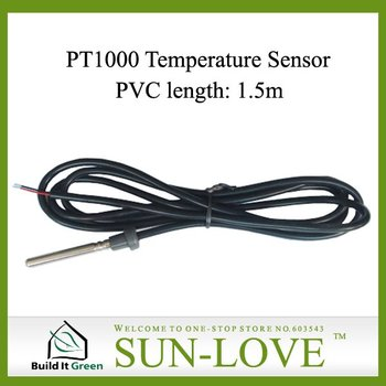 PT1000 Solar Collector Temperature Sensor,Solar Controller Sensor,Dia.6mm Length1.5m,Free Shipping