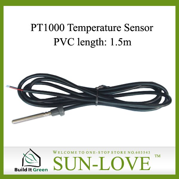 PT1000 Solar Collector Temperature Sensor,Solar Controller Sensor,Dia.6mm Length1.5m,Free Shipping(China (Mainland))