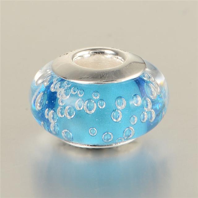 48023 море муранского стекла бусины 925 серебряные ювелирные изделия Fit оригинальный подвески браслеты DIY ювелирных украшений