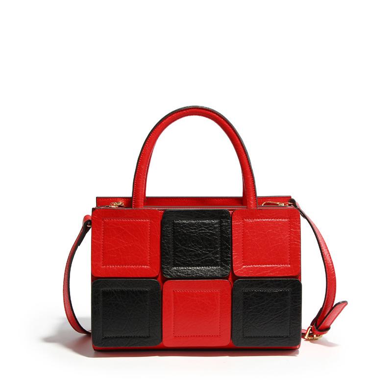 Lolita Style Boston Tote Bag Women Leather Handbag Causal Patchwork Designer Brand Handbags Female Shoulder Messenger Bag(China (Mainland))