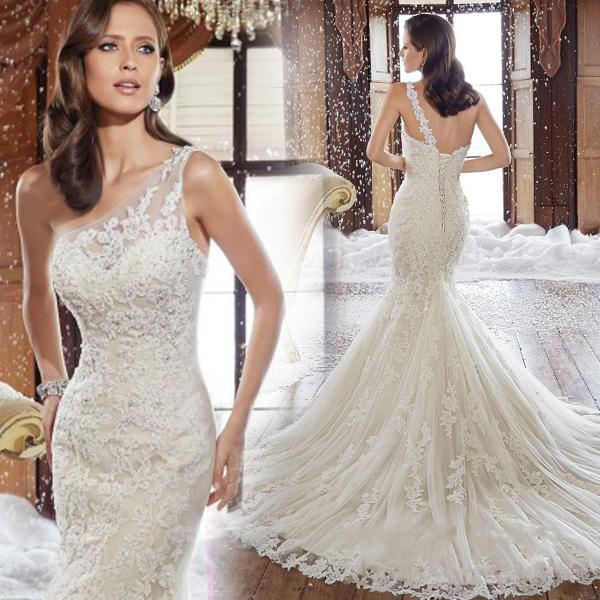 One Shoulder Plus Size Wedding Dresses Bella Forte Glass Studio