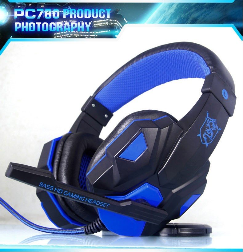 YTOM PC780 Deep Bass Game Headphone Stereo Surrounded Over-Ear Gaming Headset Headband Earphone with Light for Computer PC Gamer