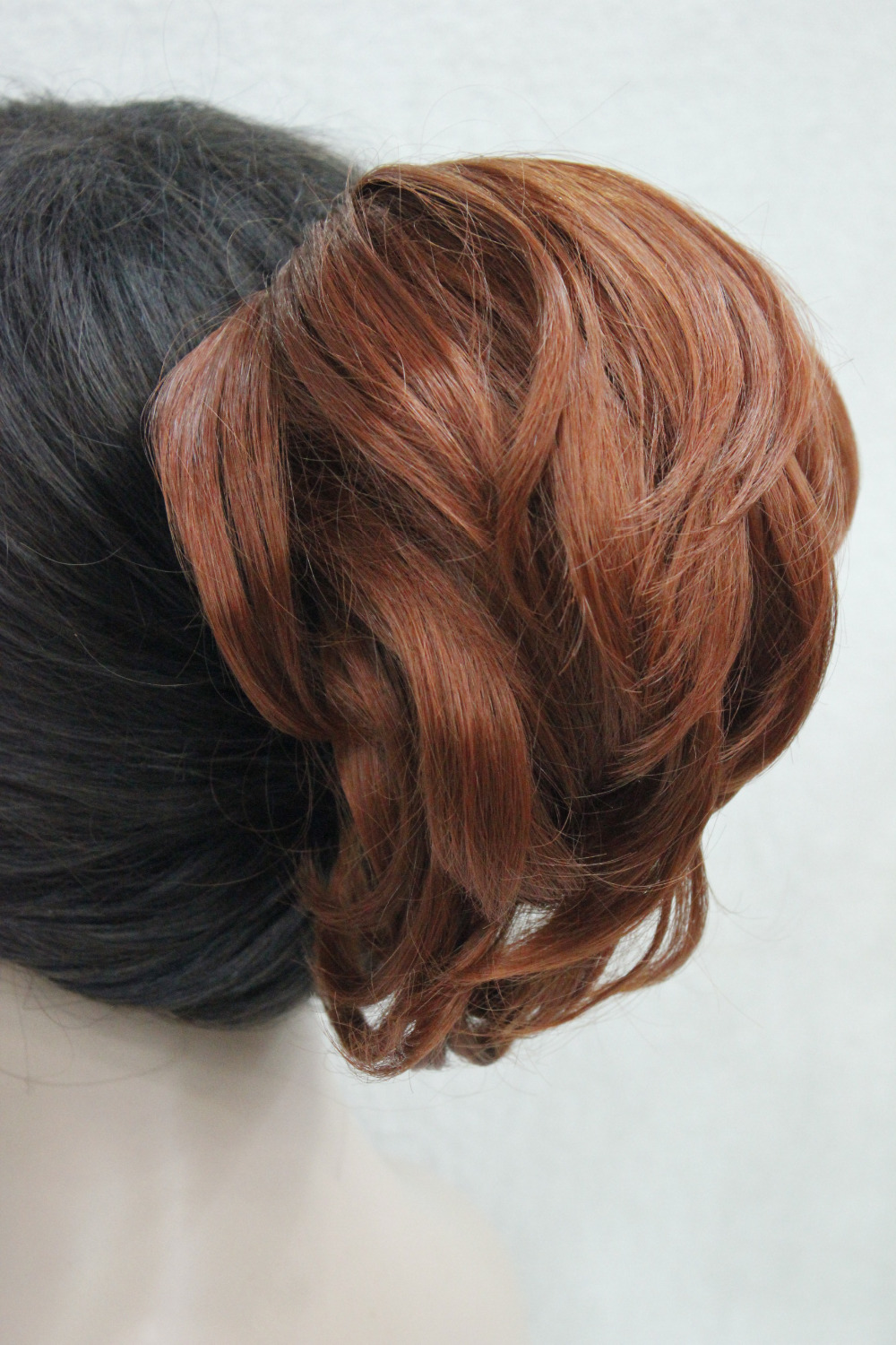 """Hivision Fun Short Wavy Claw 7"""" Ponytail Copper Red Clip in Hairpiece free shipping(China (Mainland))"""