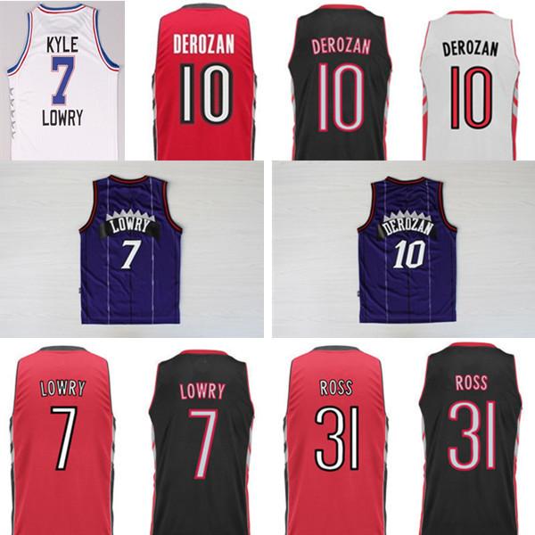 NWT Raptors #7 Kyle Lowry jersey #10 DeMar DeRozan basketball jersey home way, REV 30 sleeveless size s m l xl xxl freeshipping(China (Mainland))