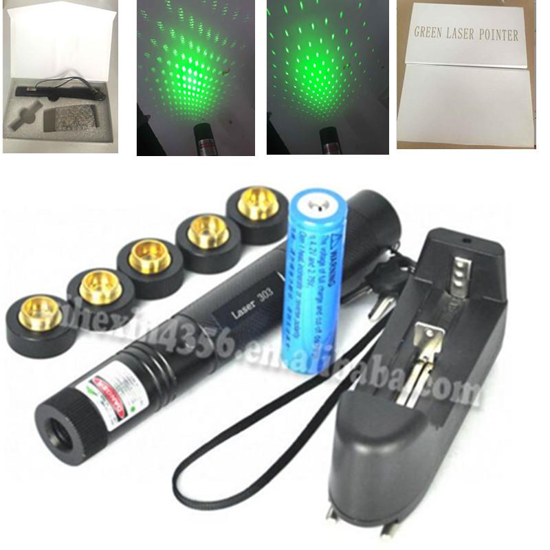 Гаджет  303 Laser Starry Sky 532nm Laser Pen Pointer 50000mw Green High Powered Burning Matchs Lazer Presenter With battery ,Charger  None Компьютер & сеть