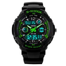 SKMEI S SHOCK Waches led watch luxury brand waterproof army wristwatch winner men clock datejust military clocks rubber strap