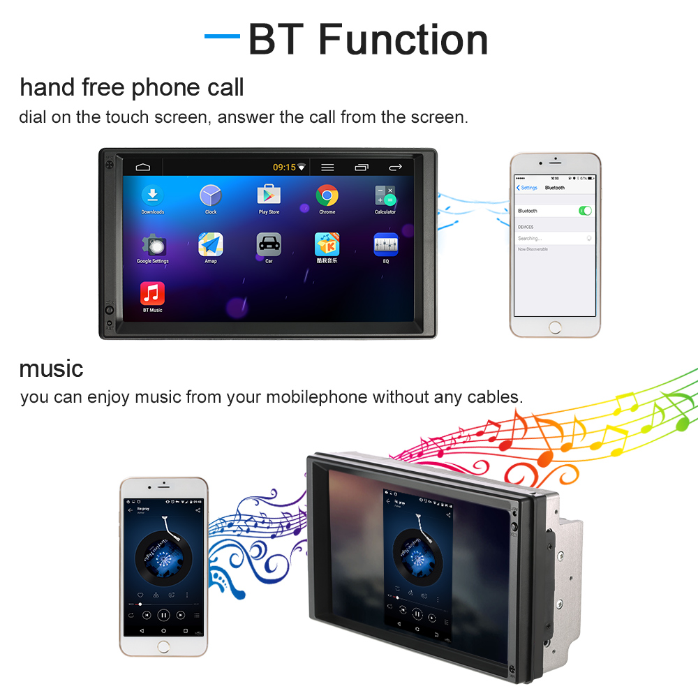 """7"""" Universal 2 Din Car video/mutimedia Player GPS Navigation Android 5.1 Stereo autoradio Entertainment HD Touch Screen BT WIFI(China (Mainland))"""