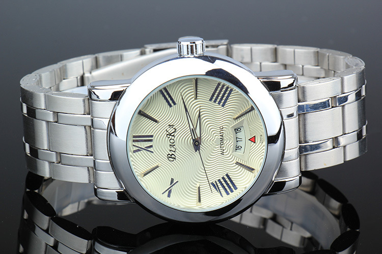 2016 ПОСЛЕДНИМ BIAOKA часы большой циферблат мужской часы синего стекла водонепроницаемый календарь автоматические механические часы relogio masculino