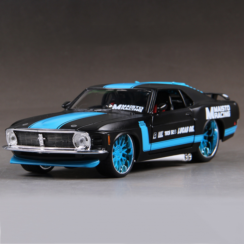 Diecast model ford mustang 1970 boss 302 1 24 alloy car for Ford motor vehicle models