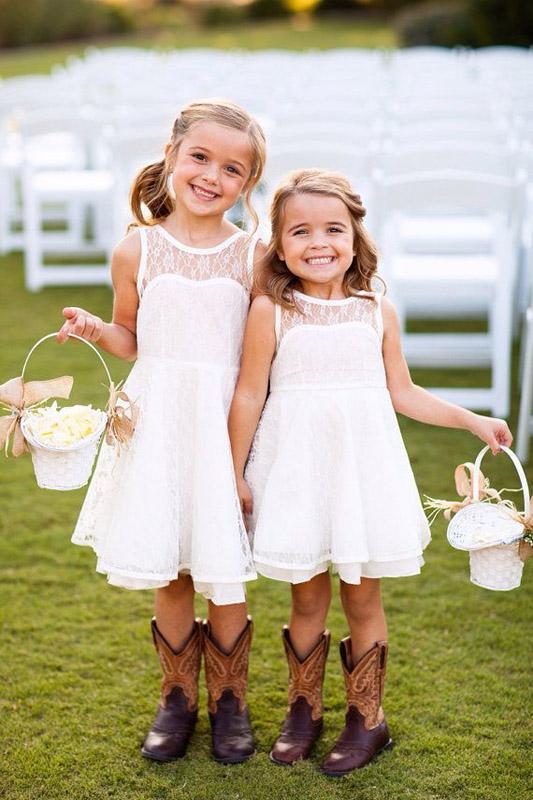 cheap flower girl dress beach wedding