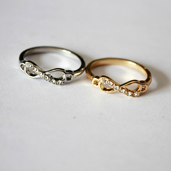 Fashion infinity crystal imitation gemstones ring gift for for Infinity ring jewelry store