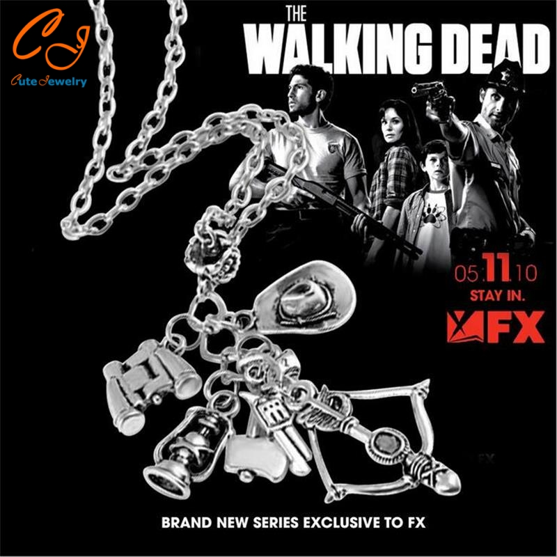 The Popular TV drama The walking dead necklace Speed sell through selling 6-in-1 creative necklace Wholesale Freeshipping(China (Mainland))