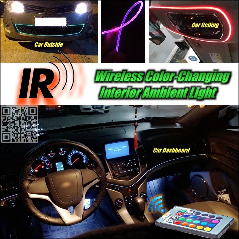 wireless ir control car interior ambient 16 color changing. Black Bedroom Furniture Sets. Home Design Ideas