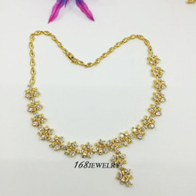 comfortable Necklaces size 20cm 18K real yellow gold plated PLEASANT white topaz LK5001 168JEWELRY(China (Mainland))