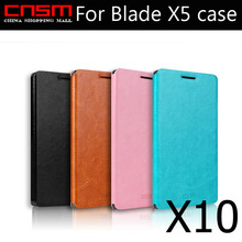 10/lot MOFI Ultra-Slim PU Leather Flip Bracket Cover Case For ZTE Blade X5, With Retail packaging, 4 color