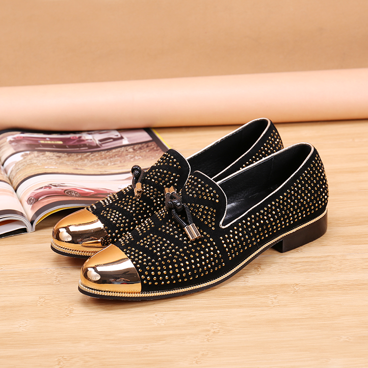 mens black studded loafers chris louboutin website. Black Bedroom Furniture Sets. Home Design Ideas
