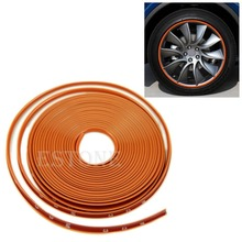 Anti-Scratch Wheel Rim Edge Protection Guard Tape For Cars/Motorbikes Orange(China (Mainland))
