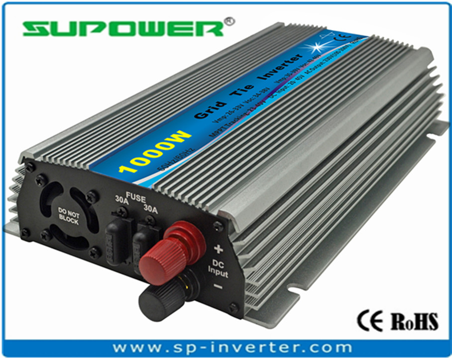 Indoor 20-45V DC to 220V 60Hz Solar Grid Tie Inverter 1000W FREE SHIPPING(China (Mainland))