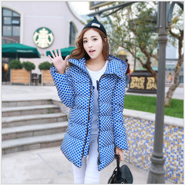 Latest Fashion Women Winter Down jacket Thickening Hooded Super Warm Coats Big yards Dot Slim Medium Long Coat Women G1685Одежда и ак�е��уары<br><br><br>Aliexpress