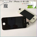 Top quality AAA LCD Display Black white For iPhone 4 4G 4S Touch Screen Digitizer Assembly