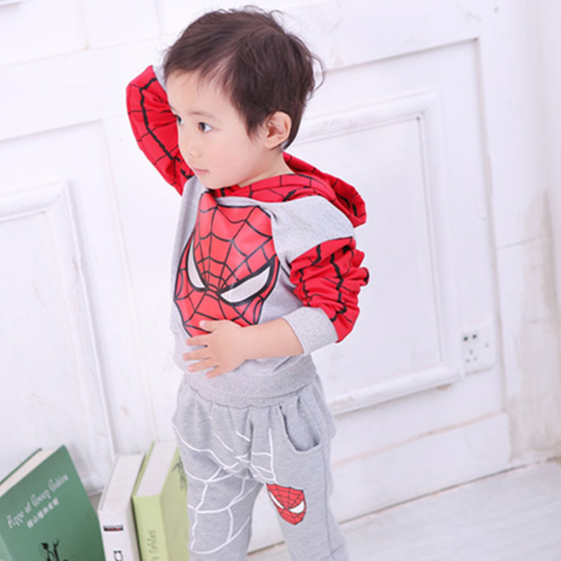 BOYS set 2016 spring childrens clothing child children spring and autumn thin boy cartoon set<br><br>Aliexpress