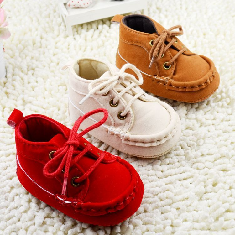 Baby Girls Boys First Walkers Shoes Brown Red Beige Color Soft Bottom Toddler Boots Freeshipping zapatos baby - Mall-1751093 store